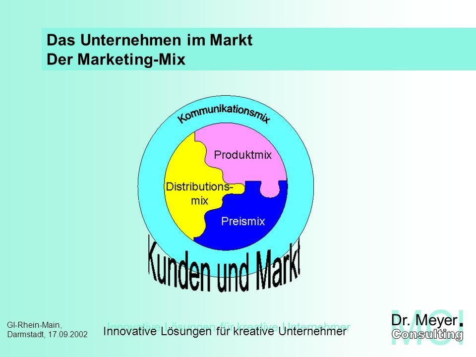 Innovative Lösungen für kreative Unternehmer GI-Rhein-Main, Darmstadt, 17.09.2002 Projekt-Management – Handlungsrahmen Das magische Dreieck des PM