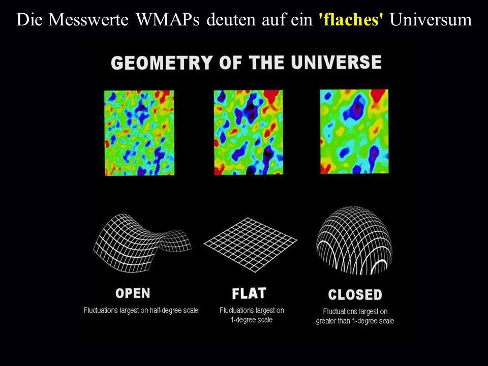 Die Messwerte WMAPs deuten auf ein 'flaches' Universum