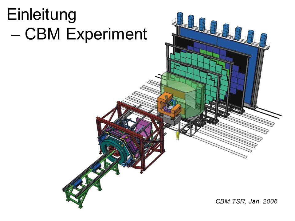 Einleitung – CBM Experiment CBM TSR, Jan. 2006