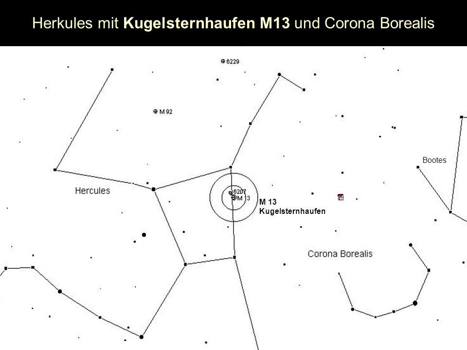 Herkules mit Kugelsternhaufen M13 und Corona Borealis M 13 Kugelsternhaufen Bootes