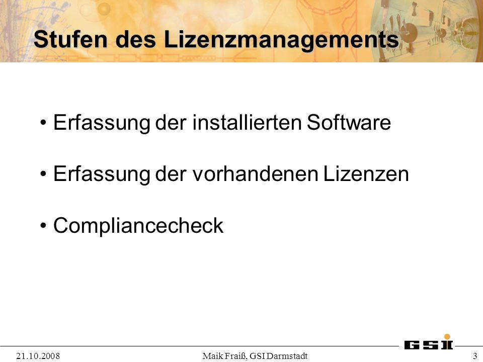 Lizenztypen 21.10.2008Maik Fraiß, GSI Darmstadt 4 Welche Arten gibt es.