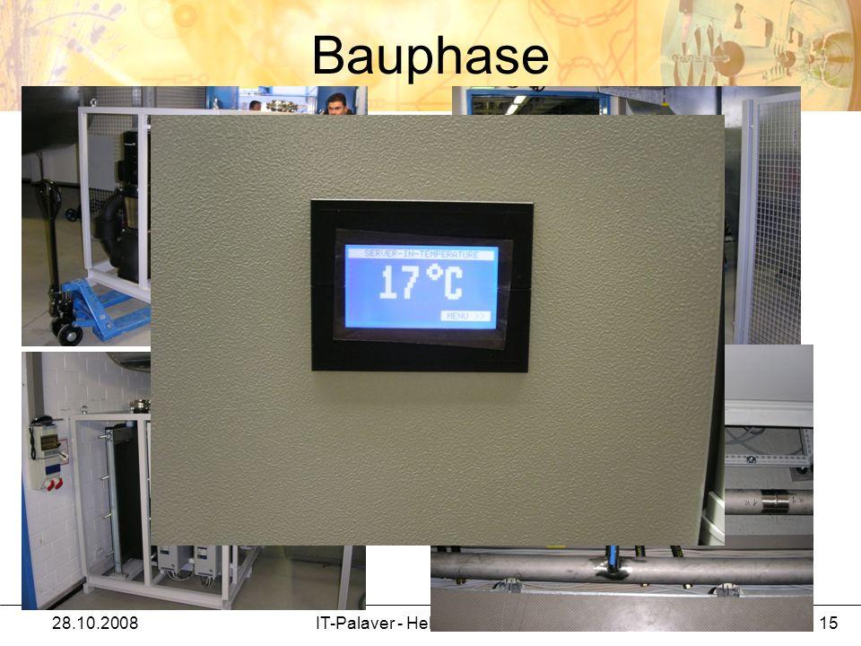 Bauphase 28.10.2008IT-Palaver - Helmut Kreiser / IT 15