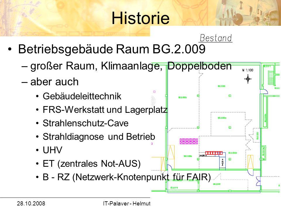 28.10.2008IT-Palaver - Helmut Kreiser / IT 5 Betriebsgebäude Raum BG.2.009 –großer Raum, Klimaanlage, Doppelboden –aber auch Gebäudeleittechnik FRS-We