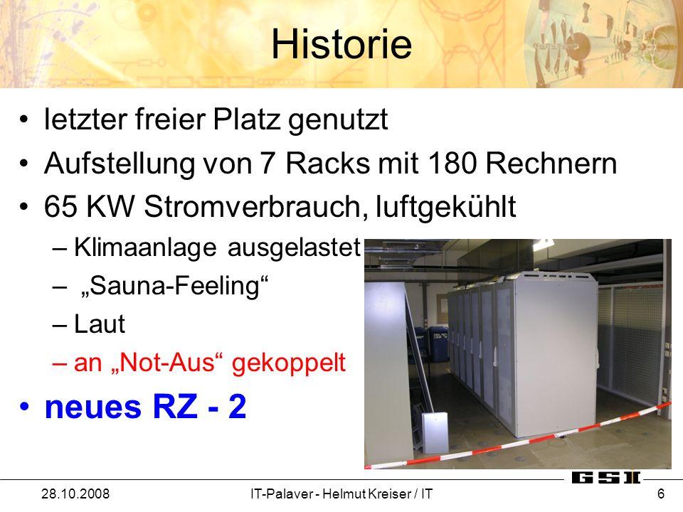 Umzug 28.10.2008IT-Palaver - Helmut Kreiser / IT 17
