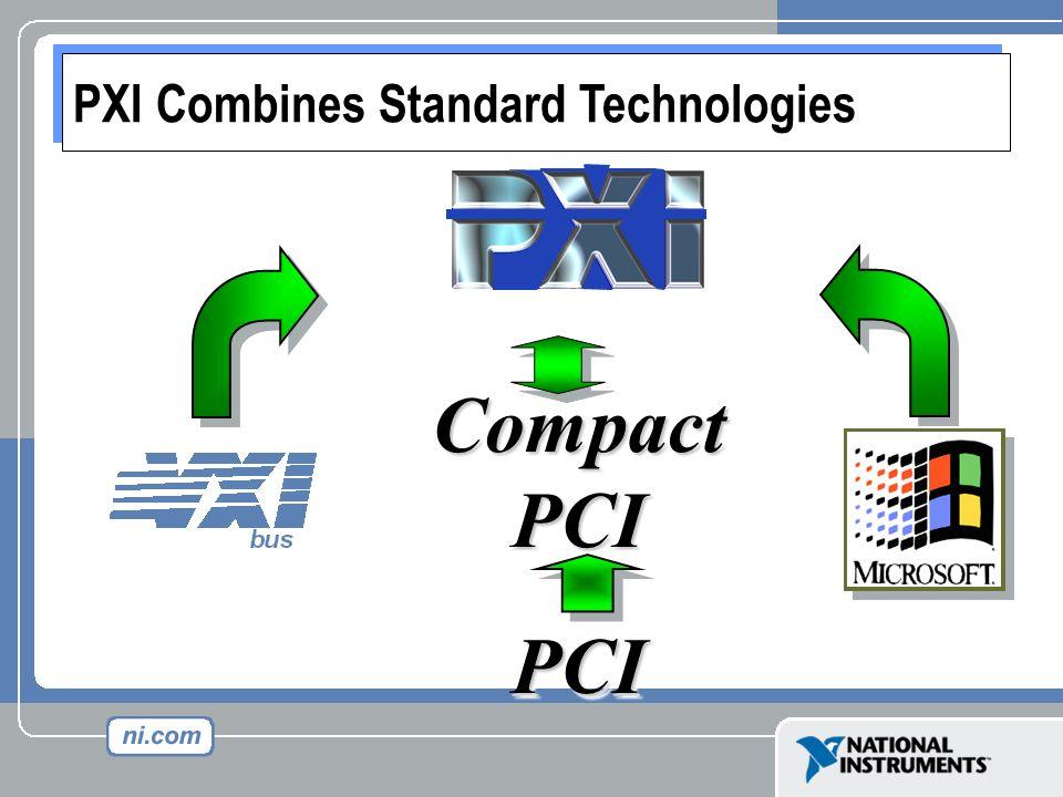 Compact PCI PCIPCI PXI Combines Standard Technologies