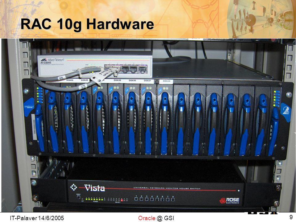 IT-Palaver 14/6/2005Oracle @ GSI 9 RAC 10g Hardware