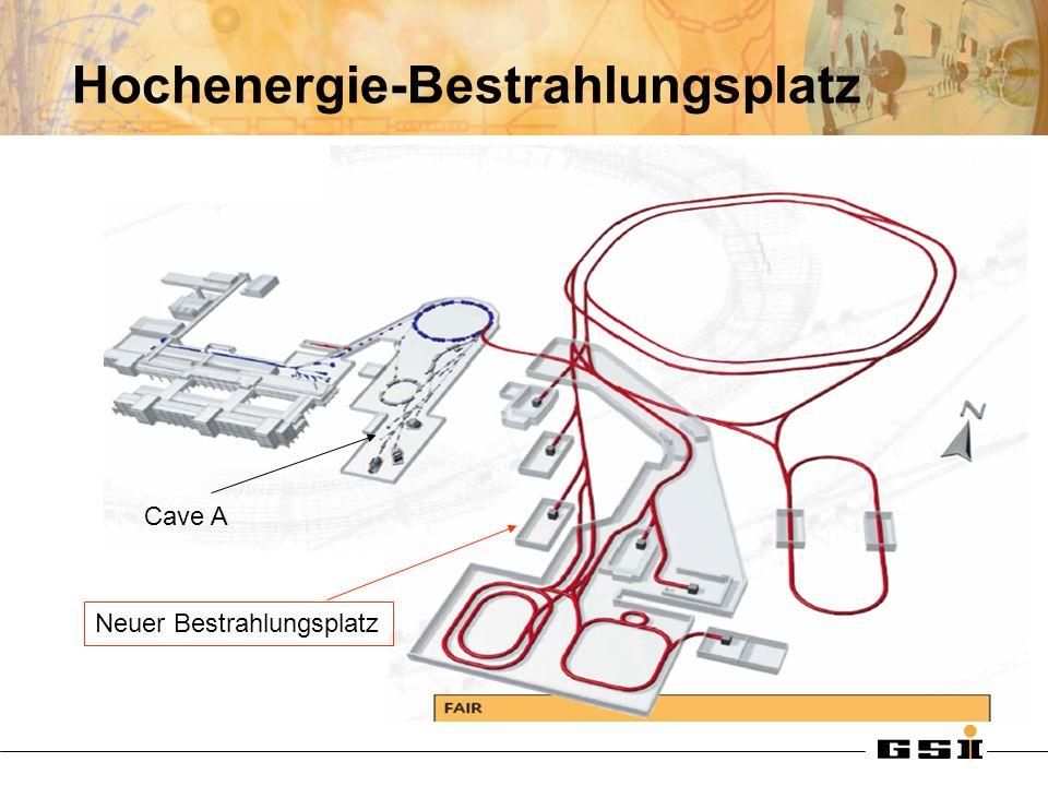 Hochenergie-Bestrahlungsplatz Cave A Neuer Bestrahlungsplatz