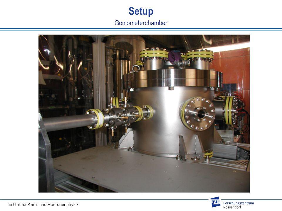 Institut für Kern- und Hadronenphysik Goniometerchamber Setup