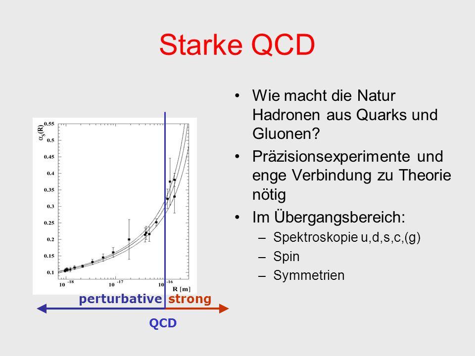 Starke QCD Wie macht die Natur Hadronen aus Quarks und Gluonen.