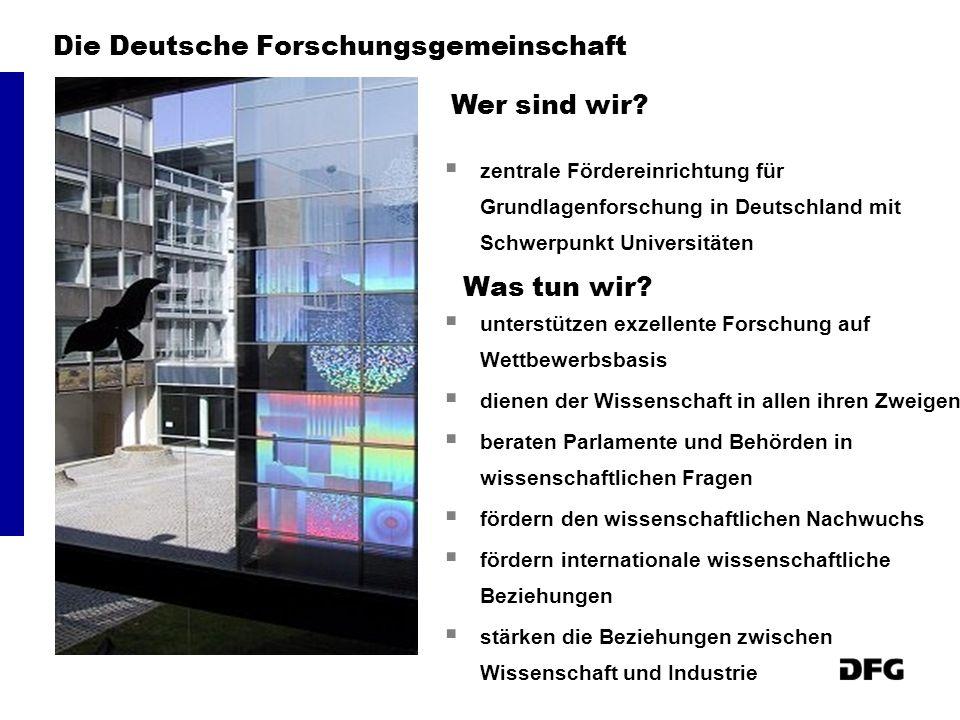 Die Deutsche Forschungsgemeinschaft zentrale Fördereinrichtung für Grundlagenforschung in Deutschland mit Schwerpunkt Universitäten unterstützen exzel