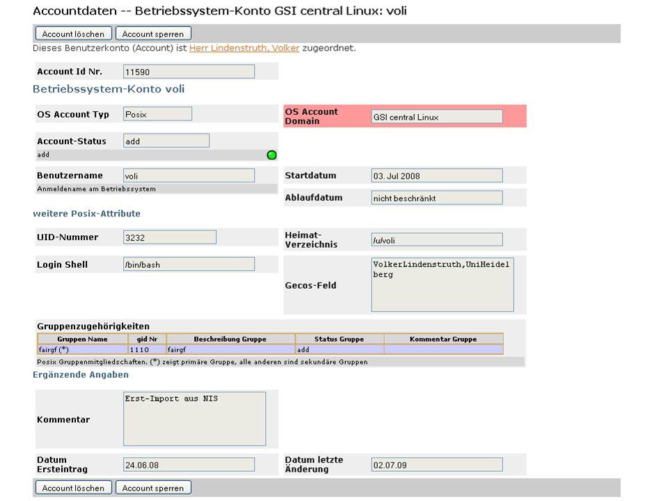 Transp.: Transparenz: Web-Anwendungen Service Portal