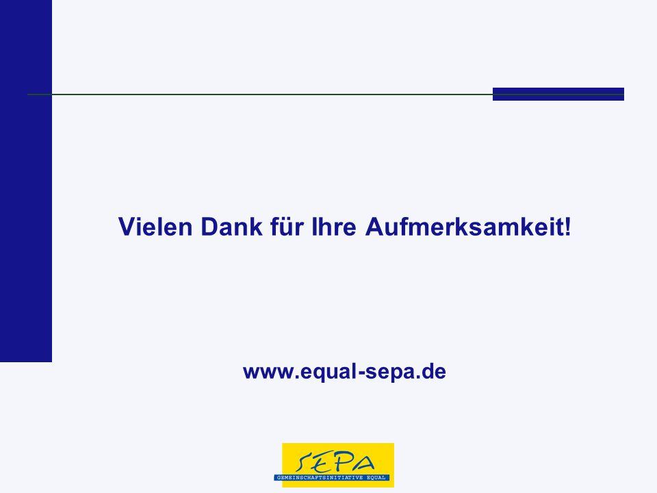 Vielen Dank für Ihre Aufmerksamkeit! www.equal-sepa.de