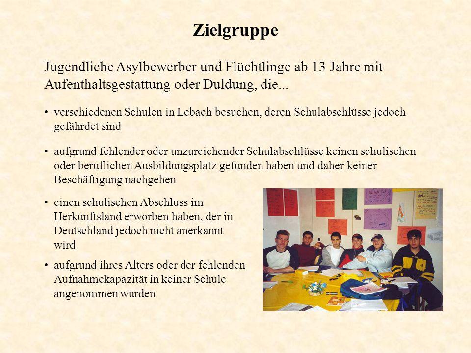 Zielgruppe Jugendliche Asylbewerber und Flüchtlinge ab 13 Jahre mit Aufenthaltsgestattung oder Duldung, die... verschiedenen Schulen in Lebach besuche