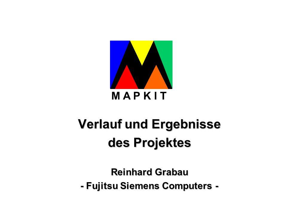 Verlauf und Ergebnisse des Projektes Reinhard Grabau - Fujitsu Siemens Computers - M A P K I T