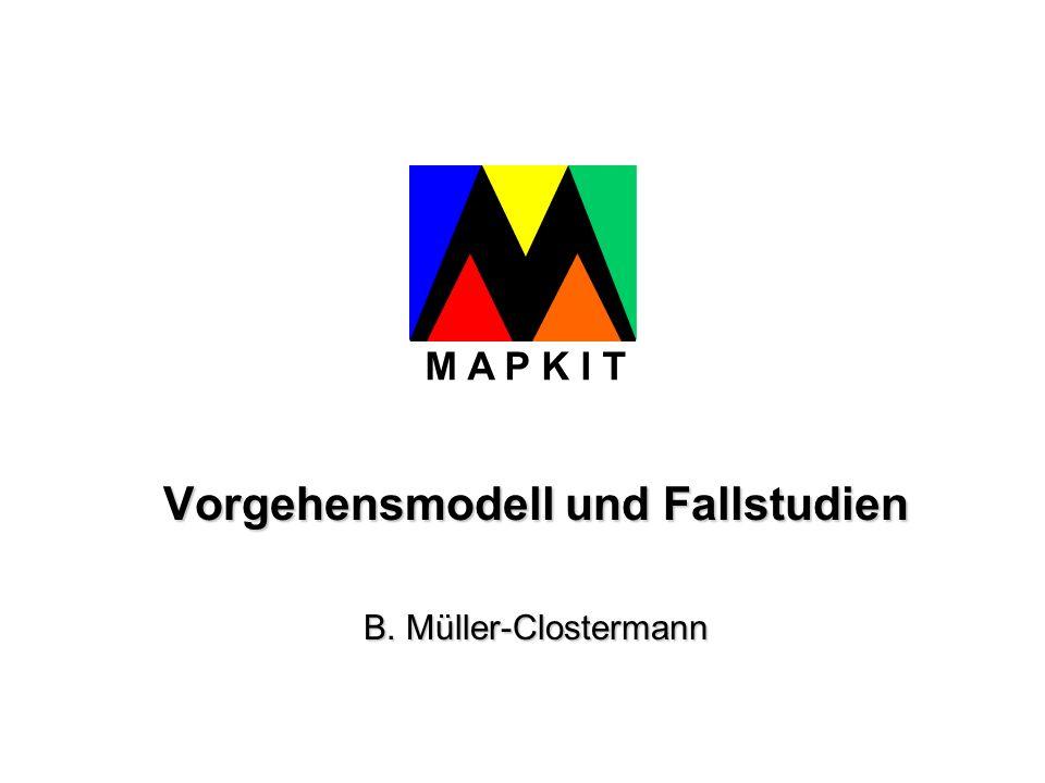 Fujitsu Siemens Computers GmbH - Siemens Business Services - Universität Essen - Materna Information & Communications MAPKIT: Vorgehensmodell und Fallstudien Präsentation Abschluss-Workshop MAPKIT_Abschluss_VoMo, Folie 2 M A P K I T Inhalt Vorgehensmodell aus Literatur (ca.