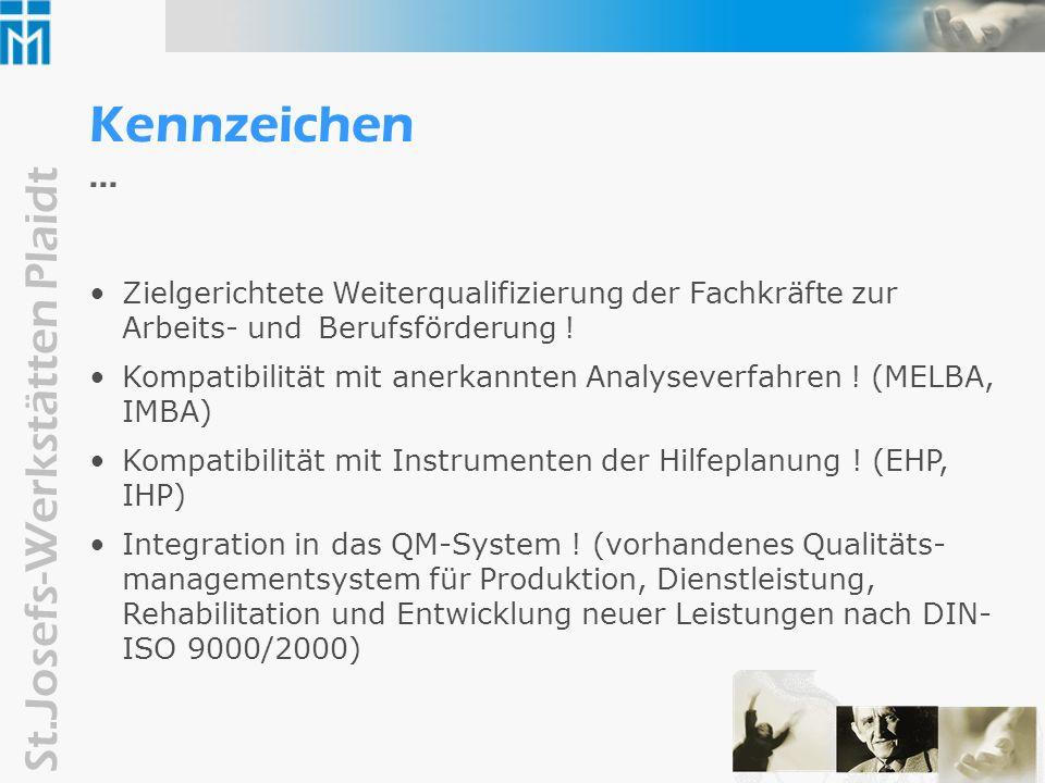 St.Josefs-Werkstätten Plaidt Ziele der beruflichen Bildung in den St.Josefs-Werkstätten 1.