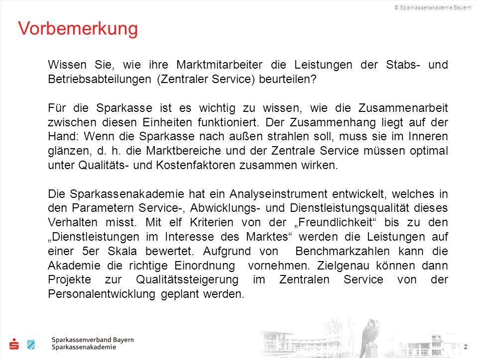 © Sparkassenakademie Bayern 13 Beispiel einer Auswertung: Textanmerkungen Bereich Wertpapierabteilung II Wenn um Hilfestellung gebeten wird, bekommt man erst gesagt, dass man dies selber machen müsste.