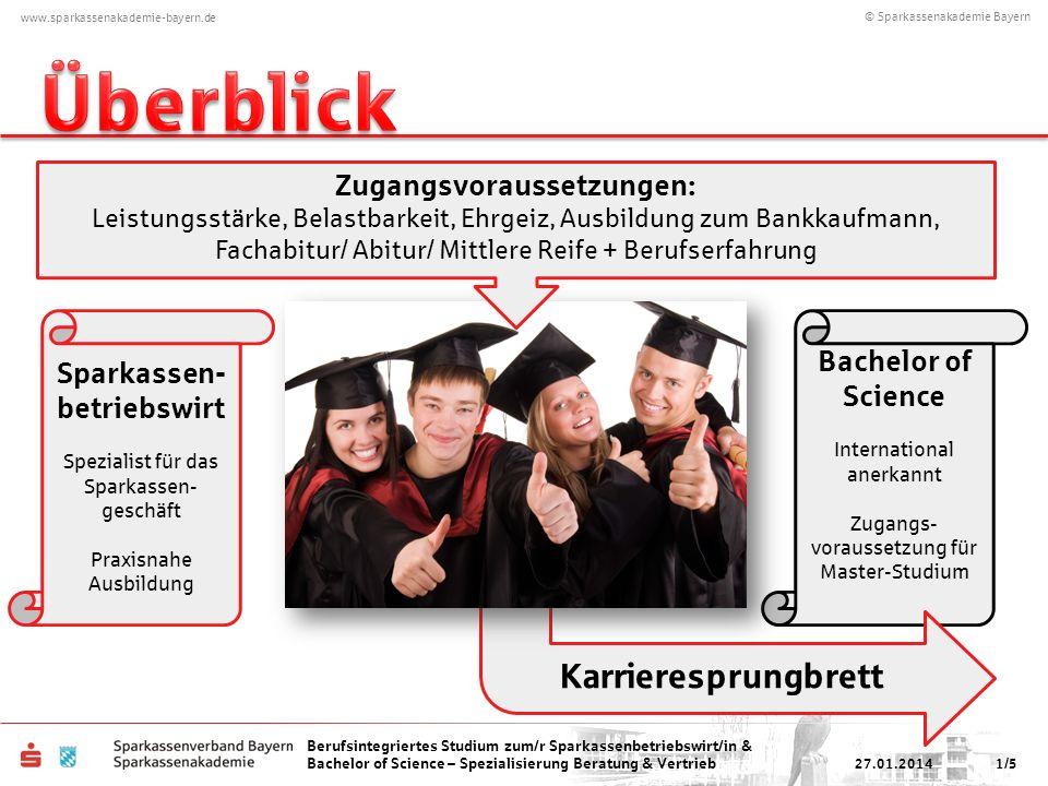 © Sparkassenakademie Bayern www.sparkassenakademie-bayern.de Berufsintegriertes Studium zum/r Sparkassenbetriebswirt/in & Bachelor of Science – Spezia