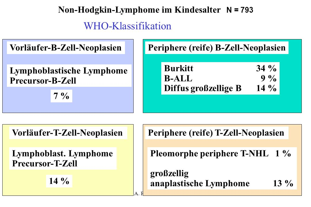 A. Reiter Juni 2004 Vorläufer-B-Zell-NeoplasienPeriphere (reife) B-Zell-Neoplasien Lymphoblastische Lymphome Precursor-B-Zell Lymphoblast. Lymphome Pr