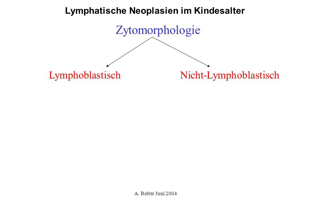 A. Reiter Juni 2004 Lymphatische Neoplasien im Kindesalter Zytomorphologie LymphoblastischNicht-Lymphoblastisch