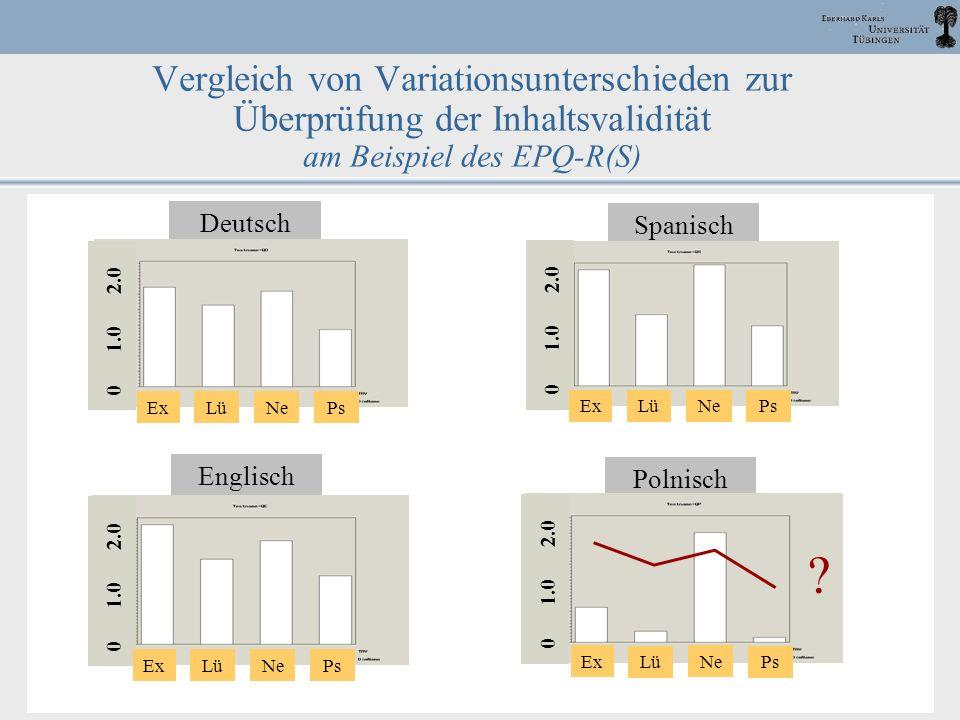 DPPD, 2003 Halle J. M. Müller 48 Vergleich von Variationsunterschieden zur Überprüfung der Inhaltsvalidität am Beispiel des EPQ-R(S) Deutsch ExNe PsLü