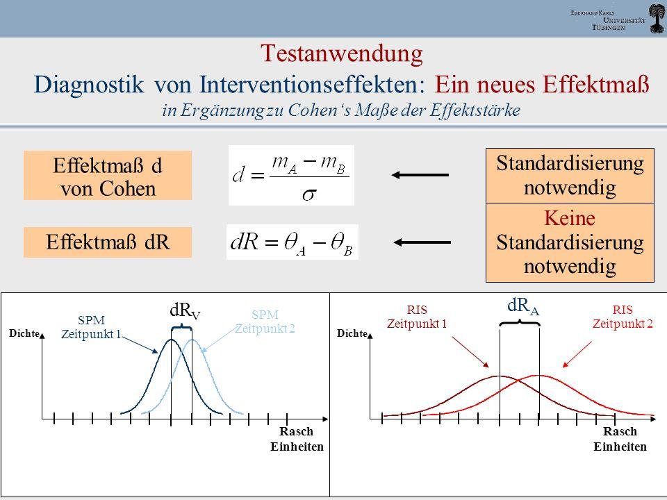 DPPD, 2003 Halle J. M. Müller 53 Testanwendung Diagnostik von Interventionseffekten: Ein neues Effektmaß in Ergänzung zu Cohens Maße der Effektstärke
