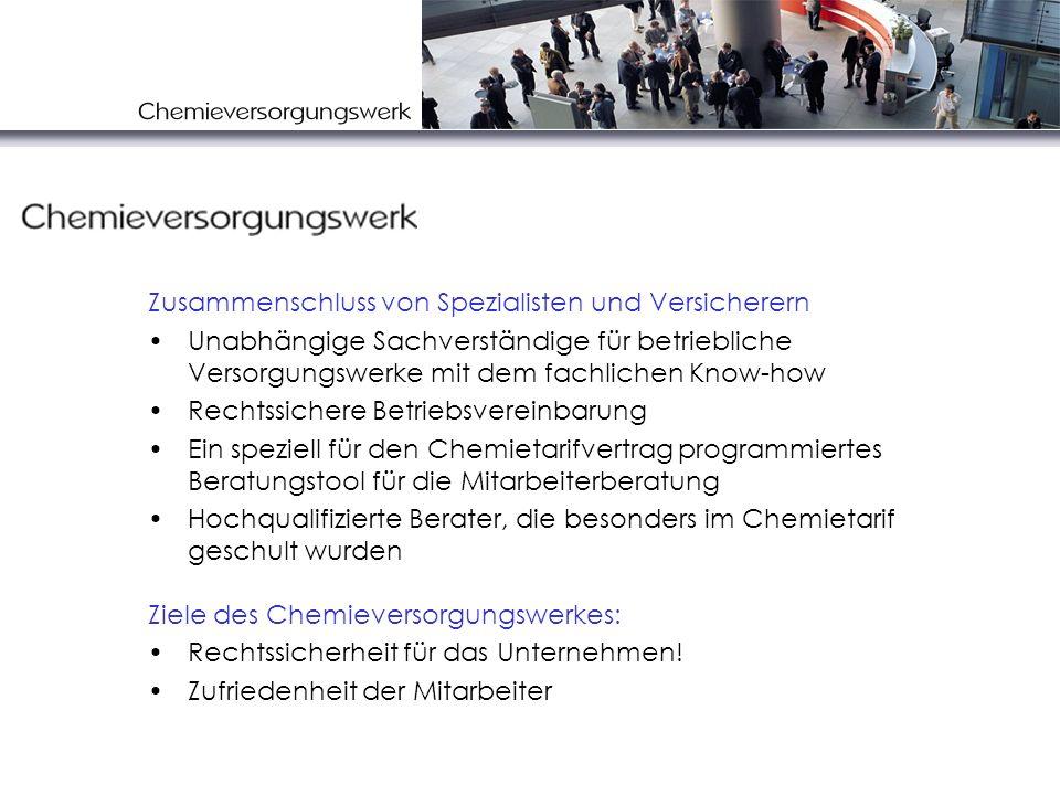 Interessen des Unternehmens Rechtssicherheit Chemietarifvertrag Einfaches Handling Keine Zusatzkosten Wenig Störungen im Betriebsablauf Mitarbeiter- zufriedenheit Haftungs- sicherheit