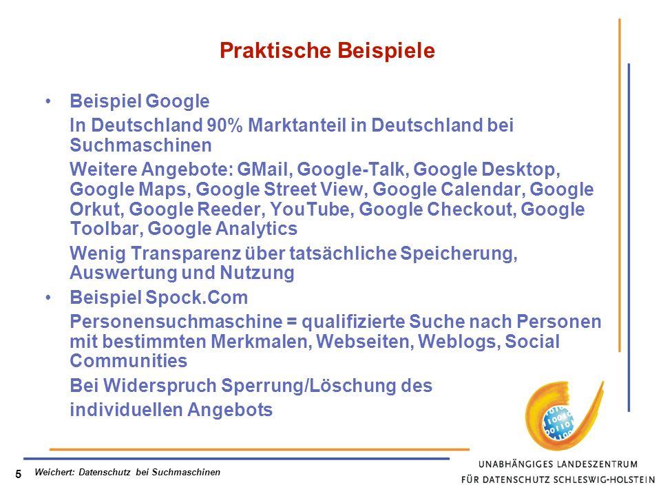 Weichert: Datenschutz bei Suchmaschinen 6 Verfassungs- und völkerrechtliche Grundlagen Art.