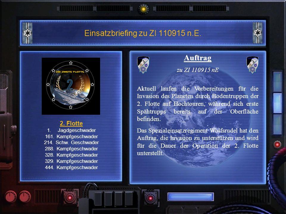 Einsatzbriefing zu ZI 110915 n.E. 2. Flotte 1.Jagdgeschwader 161.
