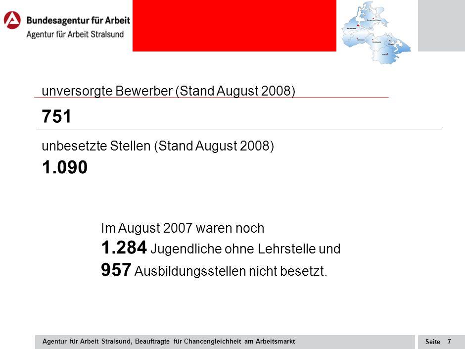 Seite Agentur für Arbeit Stralsund, Beauftragte für Chancengleichheit am Arbeitsmarkt 6 Quelle: Kultusministerium M-V