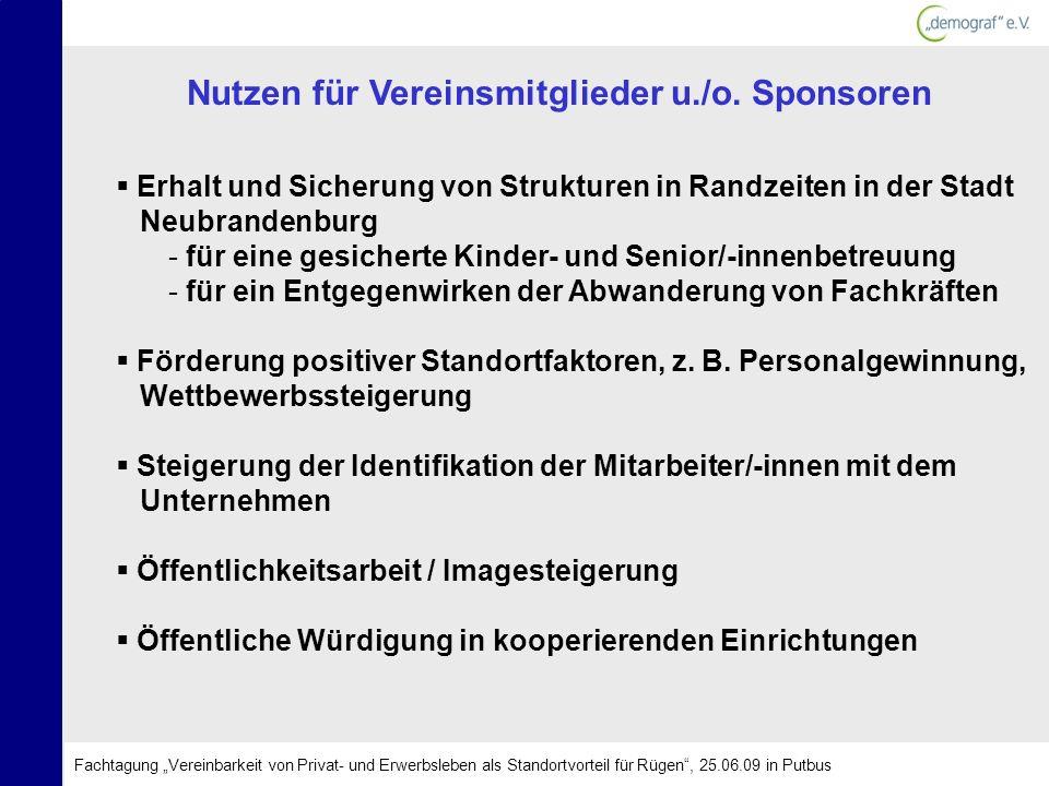 Erhalt und Sicherung von Strukturen in Randzeiten in der Stadt Neubrandenburg - für eine gesicherte Kinder- und Senior/-innenbetreuung - für ein Entge