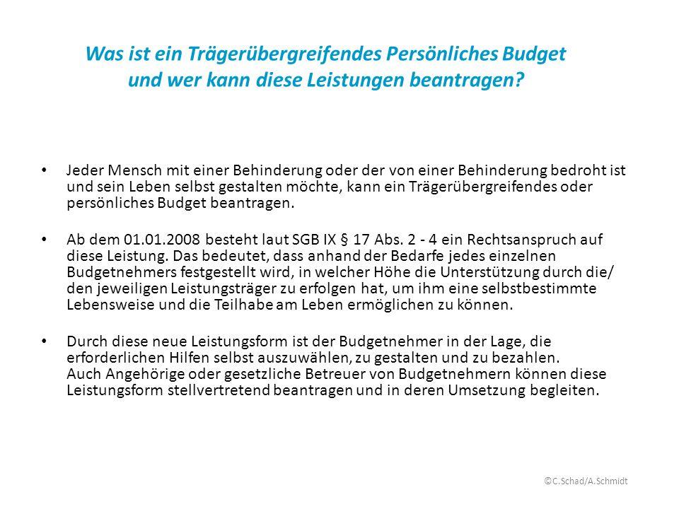 Was ist ein Trägerübergreifendes Persönliches Budget und wer kann diese Leistungen beantragen? Jeder Mensch mit einer Behinderung oder der von einer B