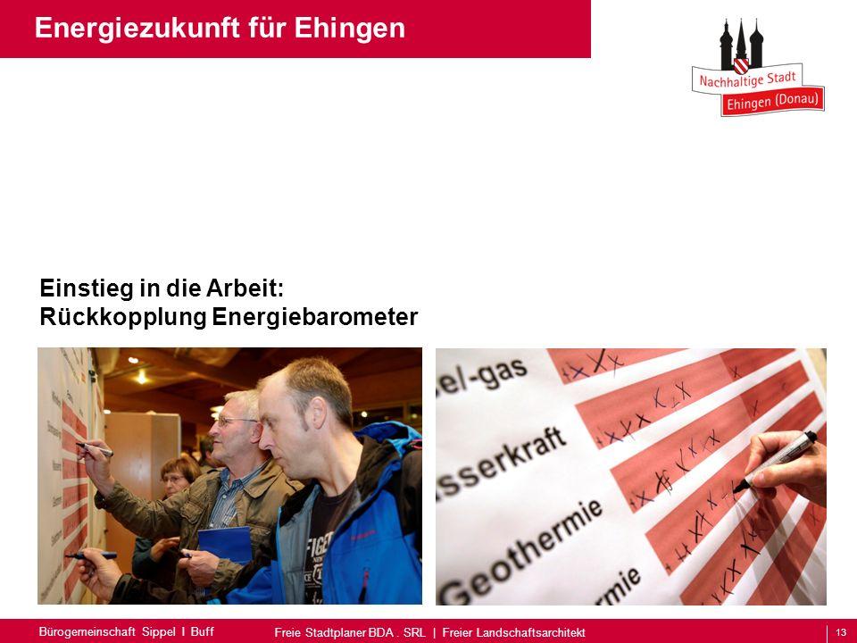 13 Bürogemeinschaft Sippel I Buff Freie Stadtplaner BDA. SRL | Freier Landschaftsarchitekt Energiezukunft für Ehingen Einstieg in die Arbeit: Rückkopp