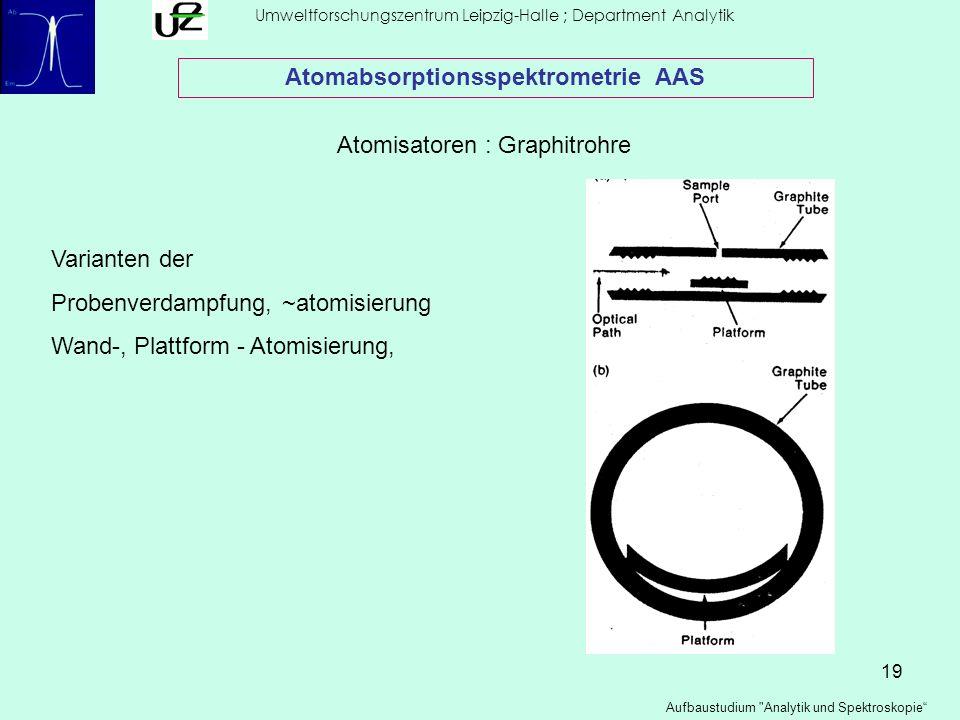 19 Umweltforschungszentrum Leipzig-Halle ; Department Analytik Aufbaustudium
