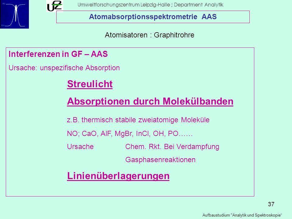 37 Umweltforschungszentrum Leipzig-Halle ; Department Analytik Aufbaustudium