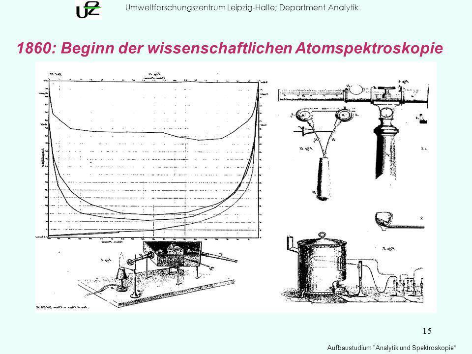 15 Umweltforschungszentrum Leipzig-Halle; Department Analytik Aufbaustudium