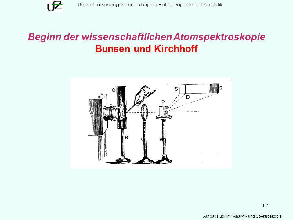 17 Umweltforschungszentrum Leipzig-Halle; Department Analytik Aufbaustudium