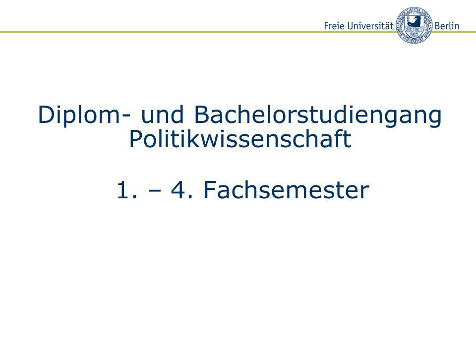 Diplom- und Bachelorstudiengang Politikwissenschaft 1. – 4. Fachsemester