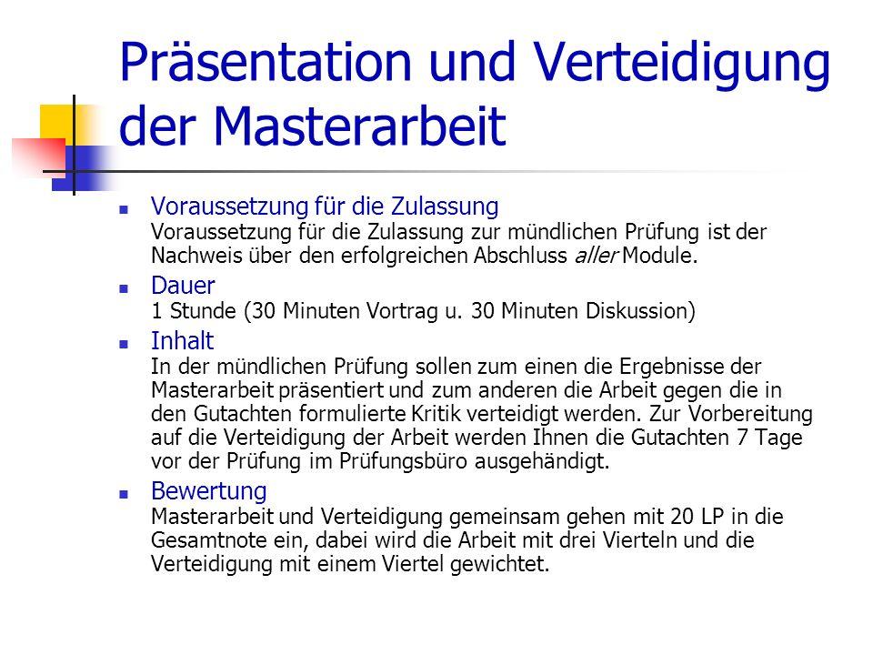 Zeitplan für die Meldung im Wintersemester 2013/2014 Meldung zur Masterarbeit: 16.