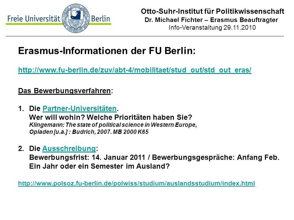 Otto-Suhr-Institut für Politikwissenschaft Dr.