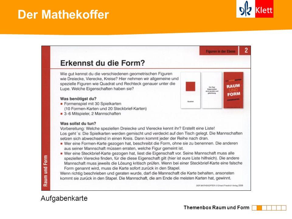 Der Mathekoffer Themenbox Raum und Form Aufgabenkarte