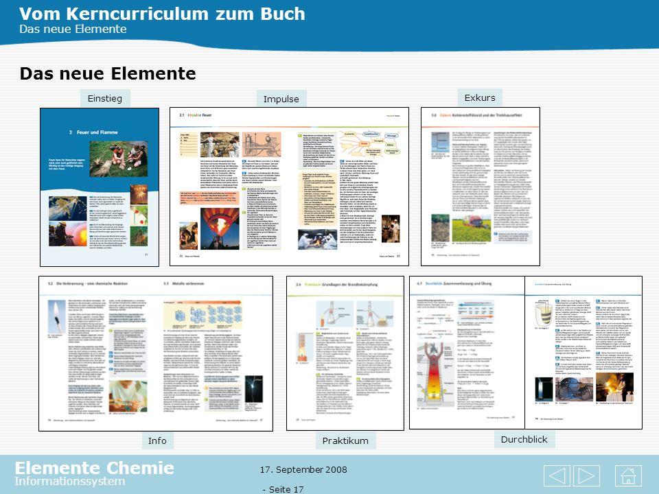 Elemente Chemie Informationssystem 17. September 2008 - Seite 16 Vom Kerncurriculum zum Buch Das neue Elemente Der Lehrwerksverbund Aktuell Software