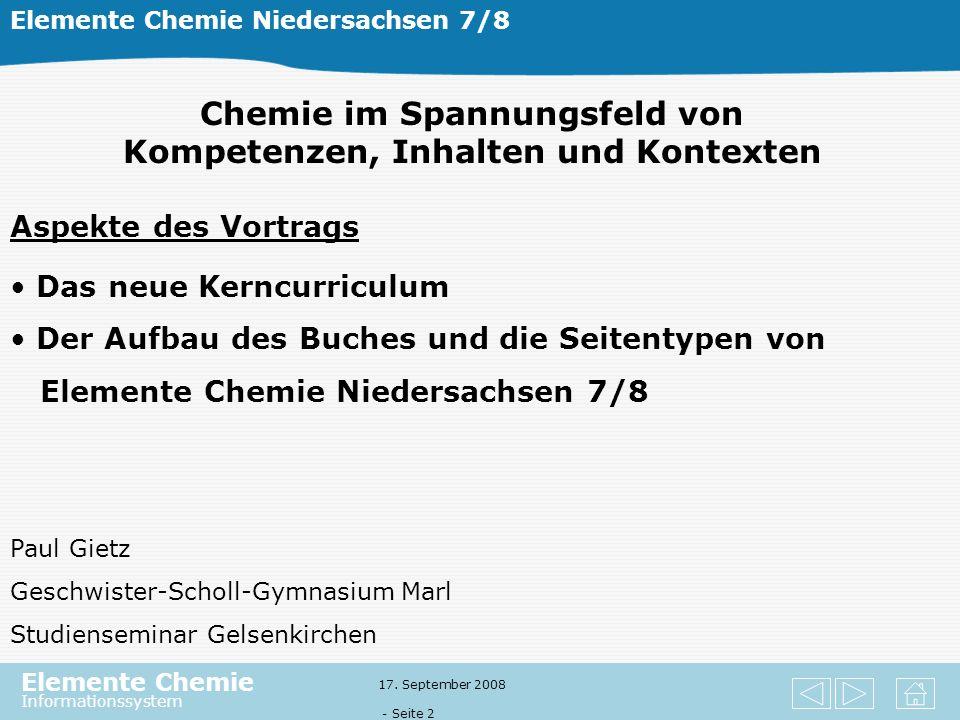 Elemente Chemie Informationssystem 17.