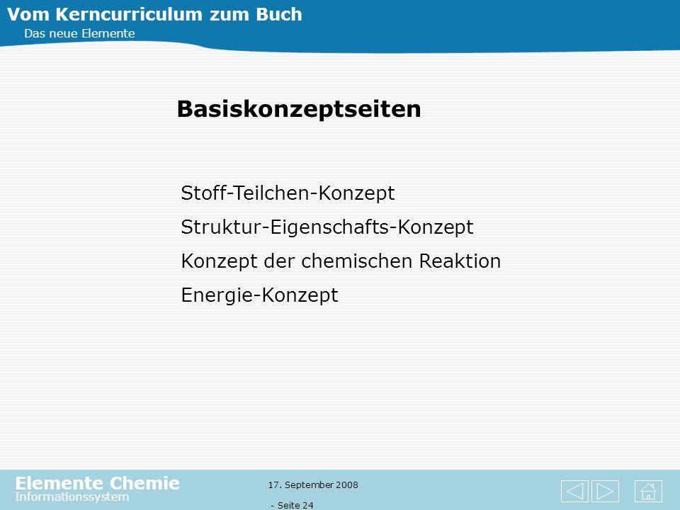 Elemente Chemie Informationssystem 17. September 2008 - Seite 23 6 Die Gewinnung reiner Metalle Vom Kerncurriculum zum Buch Das neue Elemente 6.1 Ötzi