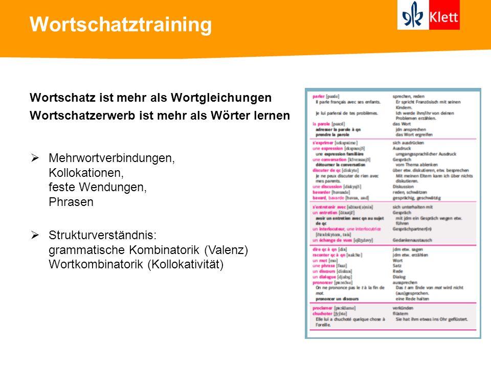 Wortschatztraining Organisation von Wortschatz im mentalen Lexikon in Sachfeldern als reversible Vorgänge Synonym – Antonym