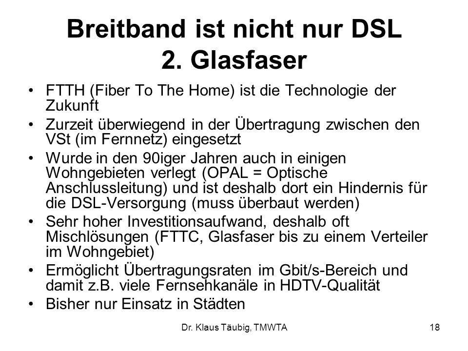 Dr.Klaus Täubig, TMWTA18 Breitband ist nicht nur DSL 2.