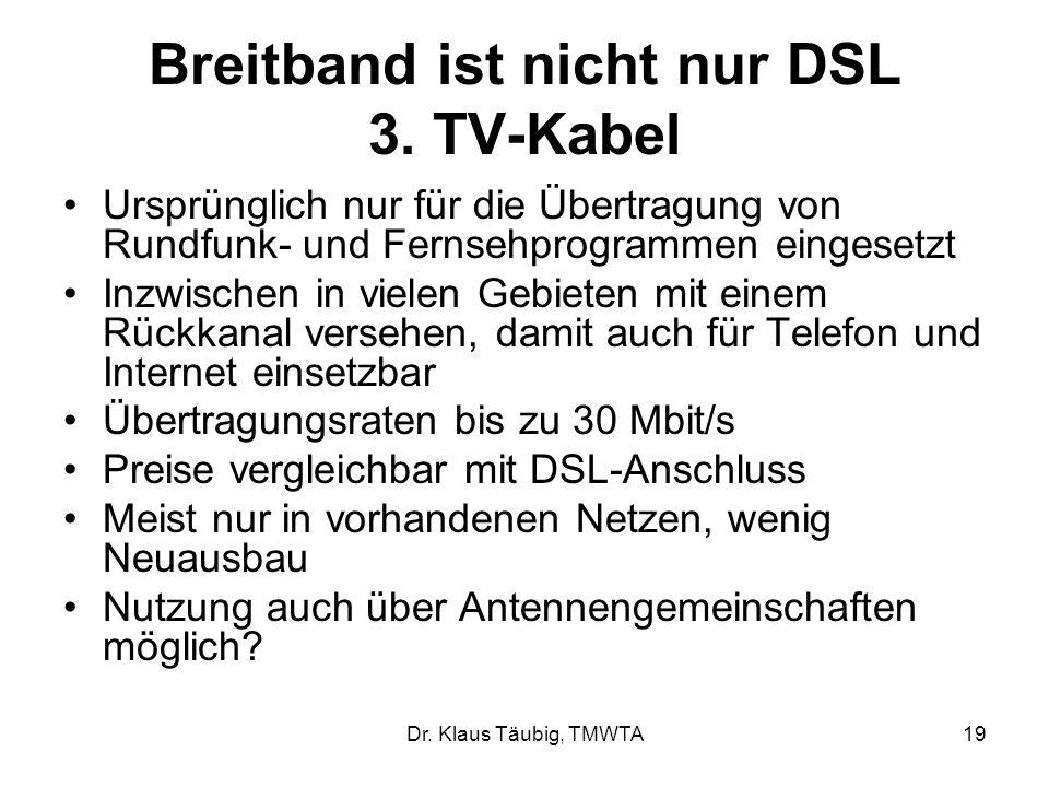 Dr.Klaus Täubig, TMWTA19 Breitband ist nicht nur DSL 3.