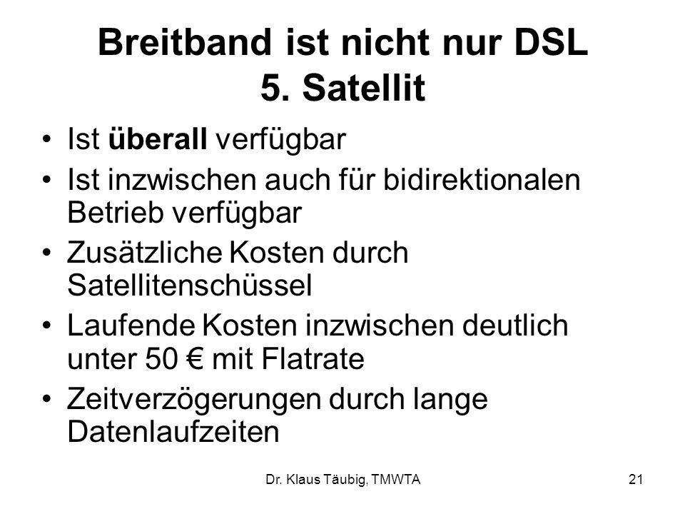 Dr.Klaus Täubig, TMWTA21 Breitband ist nicht nur DSL 5.