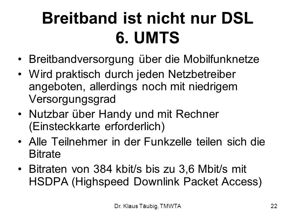 Dr.Klaus Täubig, TMWTA22 Breitband ist nicht nur DSL 6.