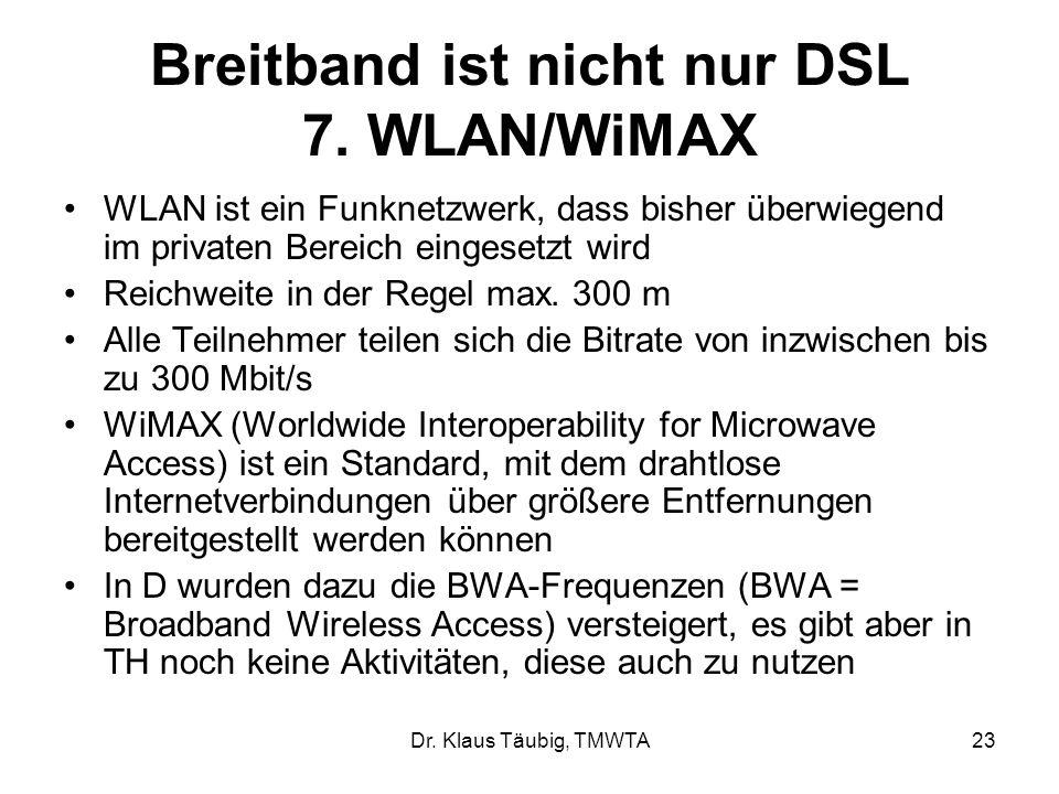 Dr.Klaus Täubig, TMWTA23 Breitband ist nicht nur DSL 7.